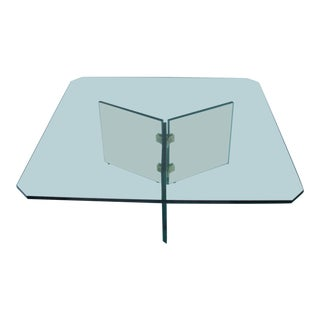 Pace Collection Brass & Glass Coffee Table For Sale
