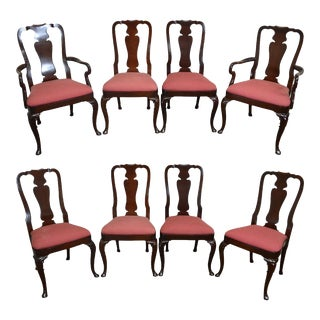 Kindel Set of 8 Mahogany Traditional Oxford Finish Dining Chairs