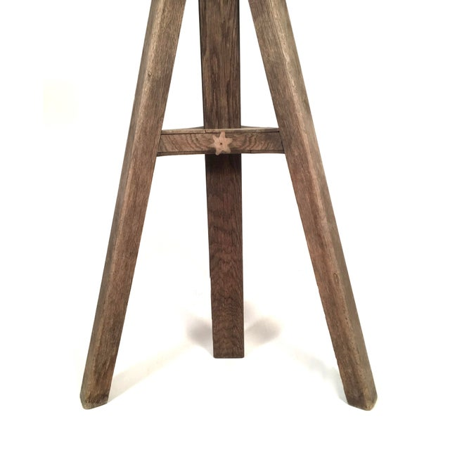 1910s Oak Adjustable Height Sculptor's Stand For Sale - Image 5 of 8