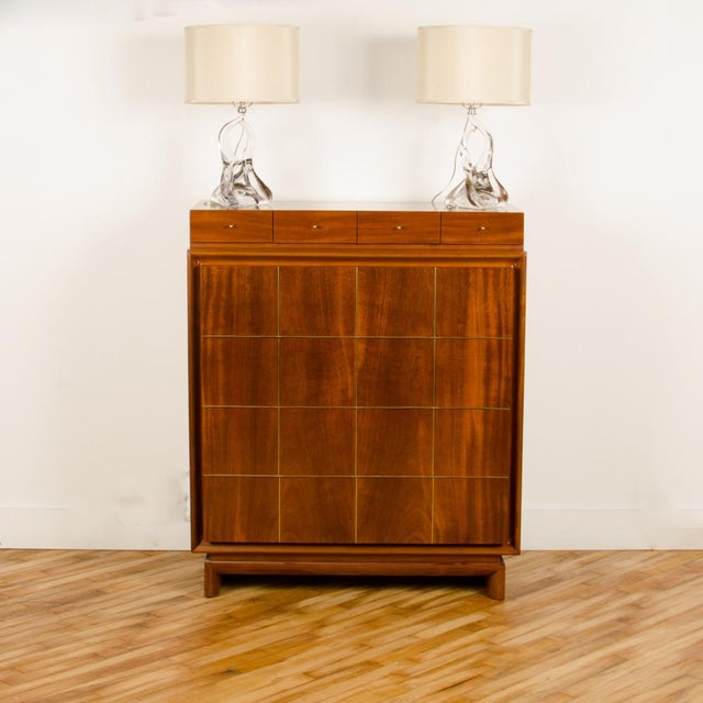 1960s 1960s Mid-Century Modern American of Martinsville Walnut Chest For Sale - Image 5 of 12