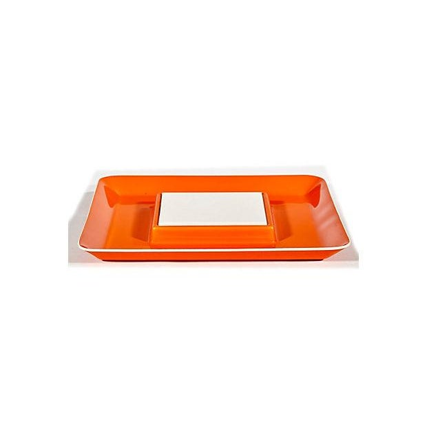 1970s Orange Plastic Serving Plate - Image 2 of 4