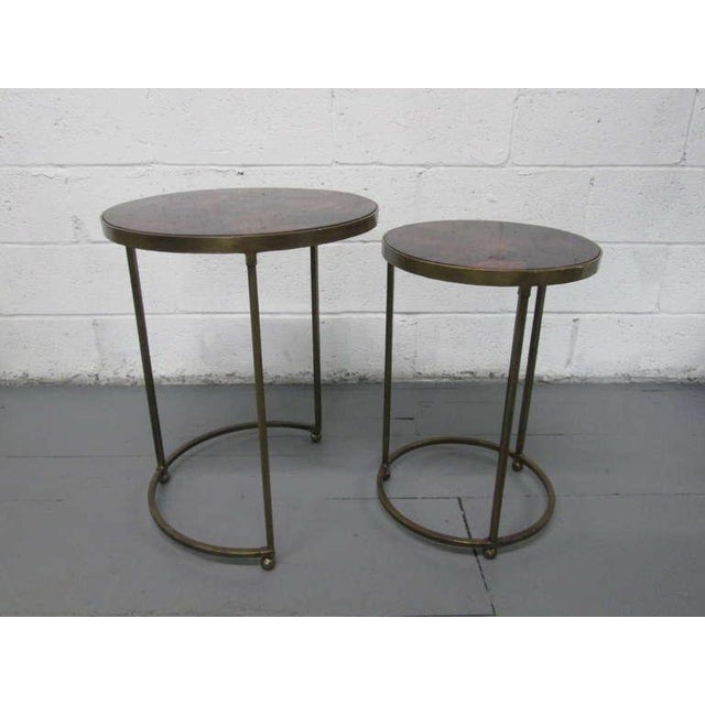 1980s Pair of Parchment Top Nest of Tables For Sale - Image 5 of 7