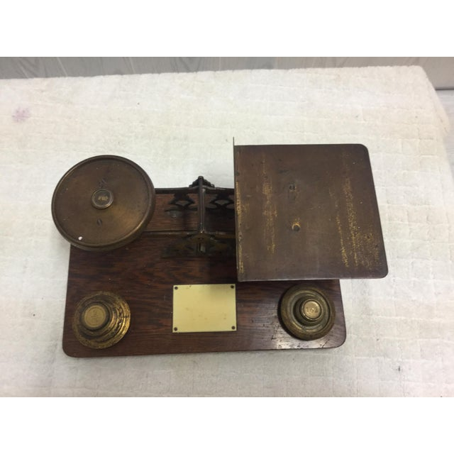 Antique Postage Scale With Weights - Image 4 of 5
