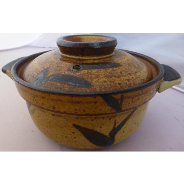 Chinoiserie Inspired Studio Pottery Covered Soup Bowls ~ Set of Five For Sale - Image 9 of 13