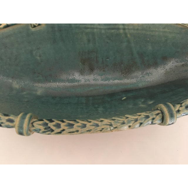 Arts and Crafts Footed Studio Pottery Oblong Bowl - Image 9 of 12