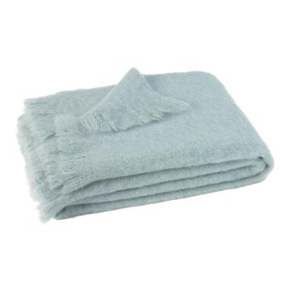 Glacier Brushed Mohair Throw For Sale