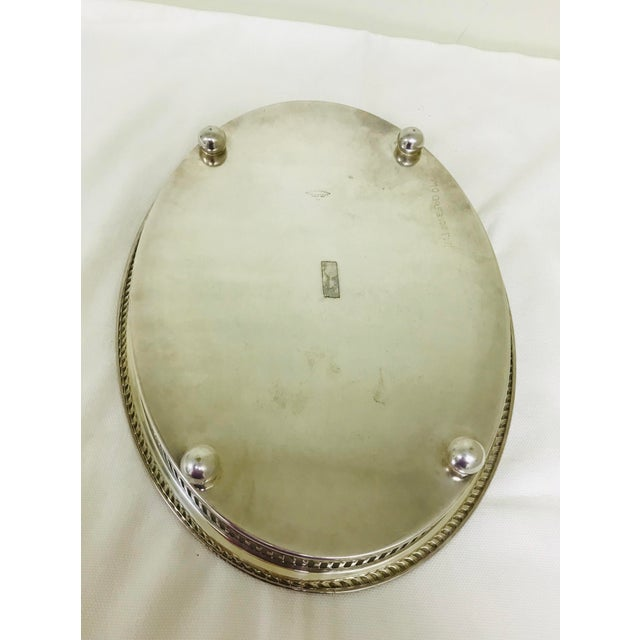1950s Vintage Blackinton Silverplate Footed Gallery Tray For Sale In Saint Louis - Image 6 of 10