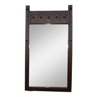 Vintage Spanish Style Solid Wood Wall Mirror