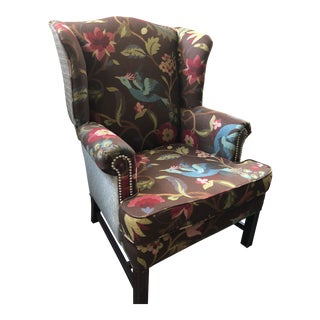 Nailhead Wingback Chair For Sale