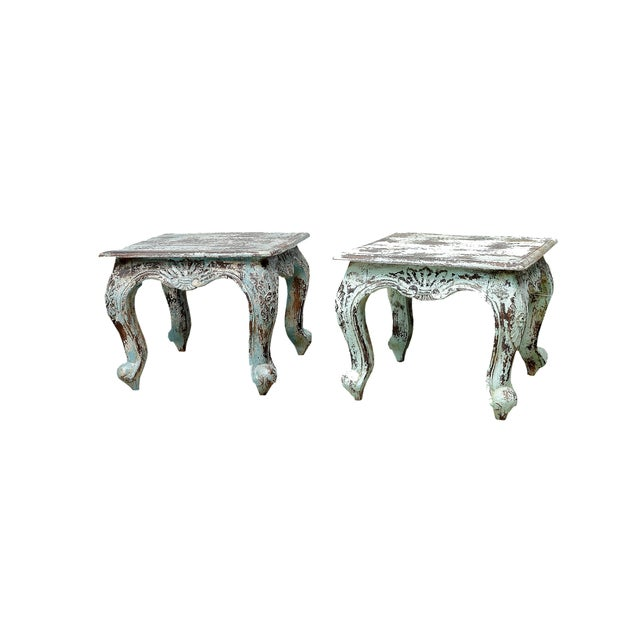 Distressed Painted Side Table - Image 2 of 2