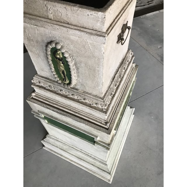 Early 20th Century 20th Century Conservatory Neoclassical Polychrome Monumental Gesso Planter For Sale - Image 5 of 12