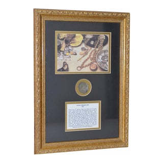 Framed Atocha Sunken Treasure Coin C.1622 For Sale