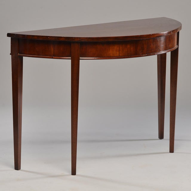 English Mahogany Demi Lune Tables - a Pair For Sale - Image 4 of 13