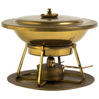 Brass Chafing Dish by Tommi Parzinger for Dorlyn For Sale