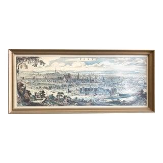 Vintage Print of Old Paris For Sale