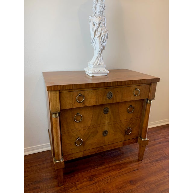 Vintage Baker French Empire Neoclassical Style Chest of Drawers For Sale - Image 10 of 13