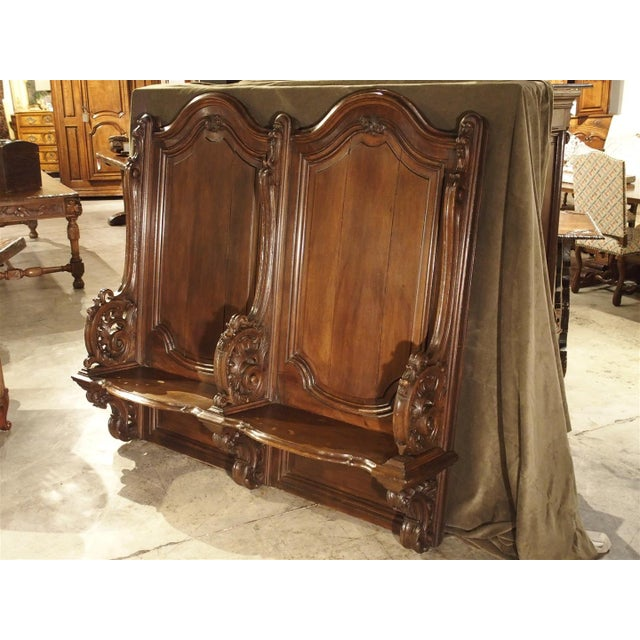 19th Century Sculpted Oak Stall from a Private Chapel in Liege, Belgium For Sale - Image 11 of 11
