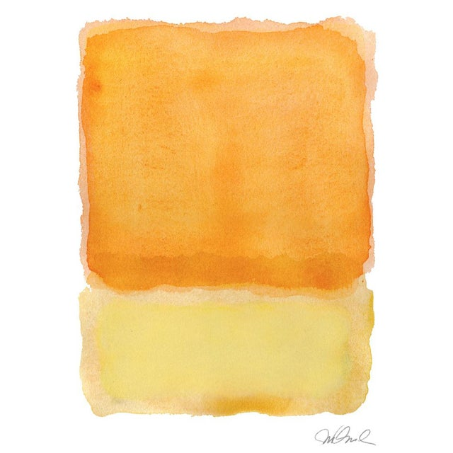 """Traditional R, Yellow Tone, Giclee Print 15x20"""" .5 Border For Sale - Image 3 of 3"""