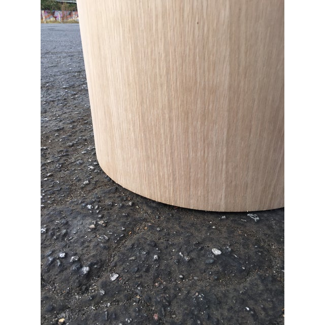 Oversized Pillar Marble Dining Table in White Oak For Sale - Image 12 of 13