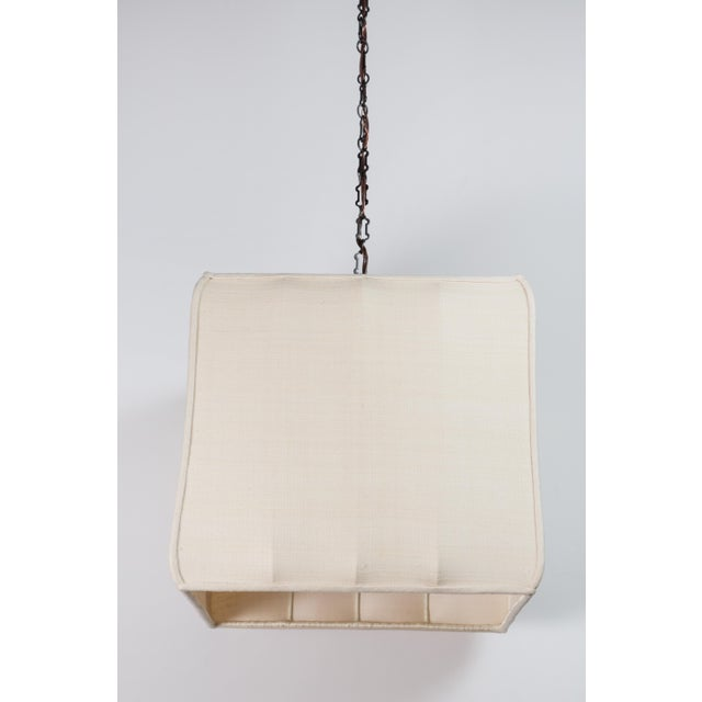 Paul Marra Paul Marra Asian-Inspired Four Light Shaded Pendant For Sale - Image 4 of 7
