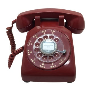 Western Electric Red Rotary Dial Telephone