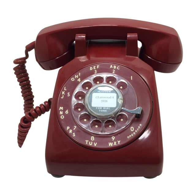 Western Electric Red Rotary Dial Telephone - Image 1 of 11