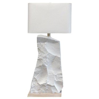 Over-Scale Sculptural Faux-Rock Table Lamp From Sirmos For Sale