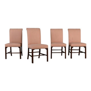 """Upholstered """"Hickory Chair"""" Dining Chairs- Set of 4 For Sale"""
