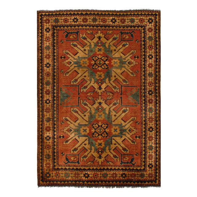 "Pasargad Afghan Kazak Lamb's Wool Rug - 4'6"" X 6' For Sale - Image 4 of 5"