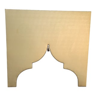 Moroccan Style Faux Leather Cornice For Sale