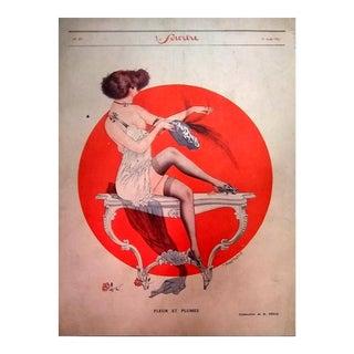 """Maurice Pepin 1922 """"Fleur Et Pumes"""" Le Sourire Print"""