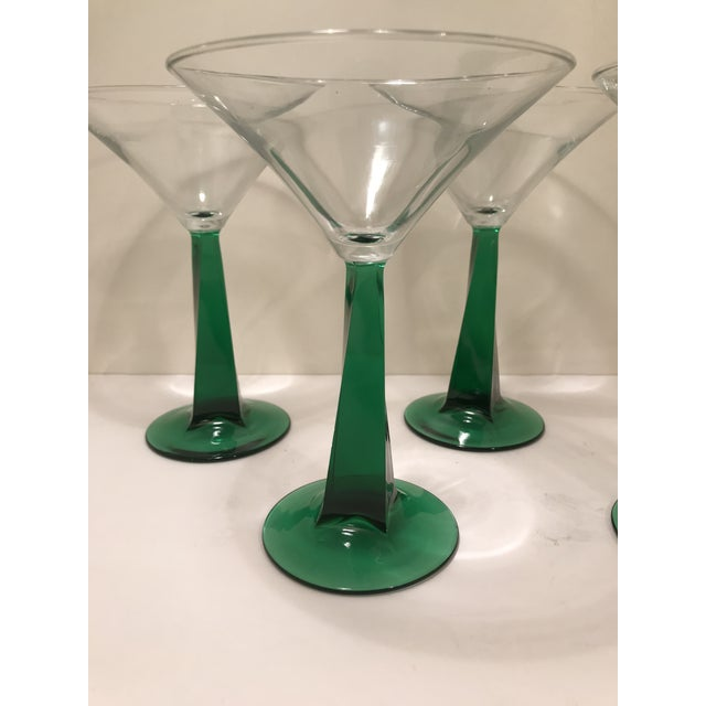 Vintage retro green stem martini glasses. Makes a great gift or entertaining during the holidays. 2 more available with...