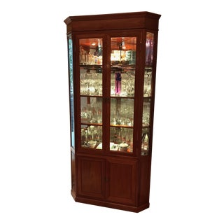 Lighted Corner Curio in Rosewood