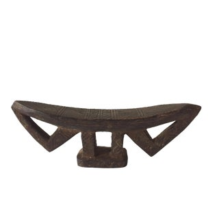 "Old African Wooden Carving Kambatta Headrest , Africa - Ethiopia 10.25"" W For Sale"