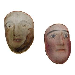 Vintage Wire Face Masks - a Pair For Sale