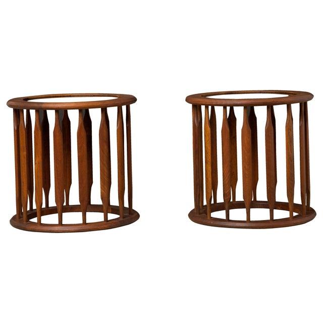 Pair Kipp Stewart Pedestal Side Tables - Image 2 of 4