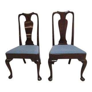 Kittinger Richmond Hill Collection Mahogany Queen Ann Dining Chairs - a Pair