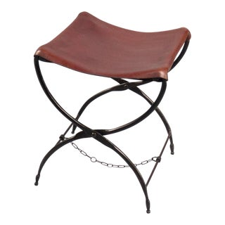 French Campaign Folding Stool For Sale