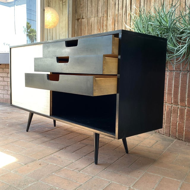 Paul McCobb Planner Group Credenza With Original Ebonized Wood Finish, 1950s For Sale In Phoenix - Image 6 of 12