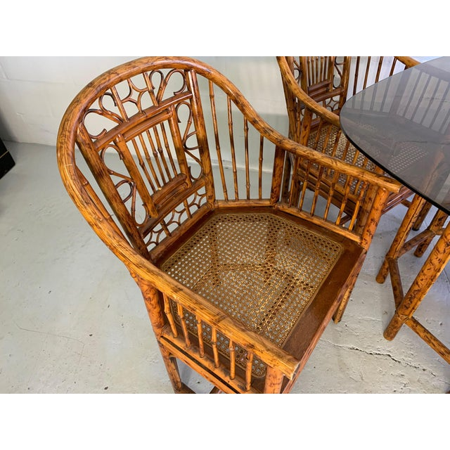 Brighton Pavilion Brighton Pavilion Rattan Dining Set 4 Chairs and Table - Set of 5 For Sale - Image 4 of 10