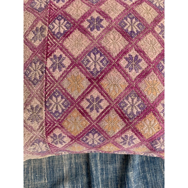 2020s Antique Tribal Wedding Quilt Pillow For Sale - Image 5 of 9