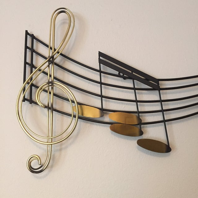 C Jere Music Motif Wall Sculpture Signed For Sale - Image 5 of 7