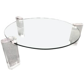 Image of Newly Made Round Glass Coffee Tables