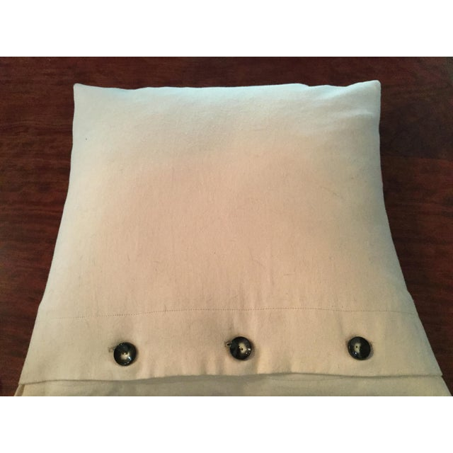 Abstract Mid-Century Modern Ultra Suede Pillows - a Pair For Sale - Image 3 of 4