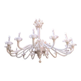1930s Italian Vintage Murano Floral Chandelier For Sale