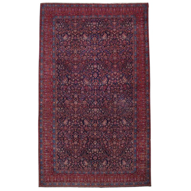 Antique Kashan Carpet For Sale