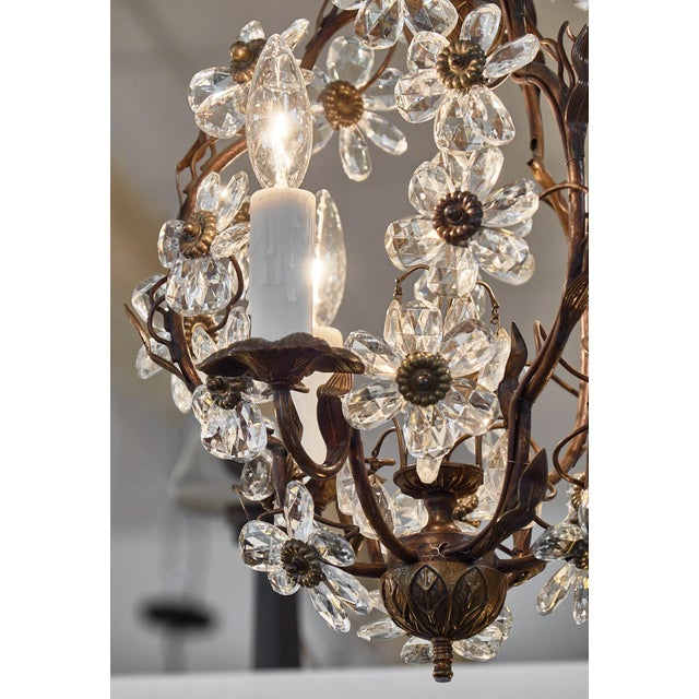 1940s Vintage Baguès Crystal Chandelier For Sale - Image 5 of 10