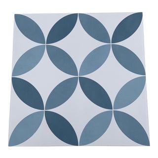 Hampton Decorative Steel Blue Tiles - Set of 135 For Sale