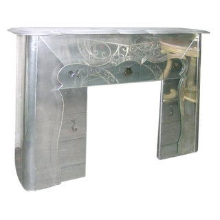 1930s Vintage Mirrored Mantel Piece For Sale