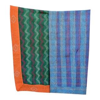 Vintage Handmade Kantha Quilt